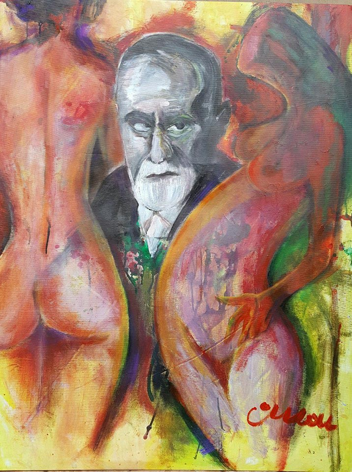 Erotiq Freud - Contemporary Art Painting - Florin Coman