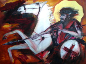 St. George - Contemporary Art Painting - Florin Coman